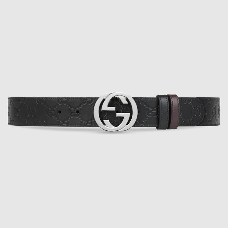 5219e9b2c Gucci Interlocking G-Buckle Leather Belt In Black   ModeSens