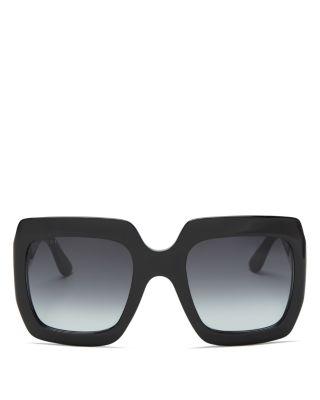 afb152c1ba Gucci Gg0053S 001 Black Acetate Square Women s Sunglasses