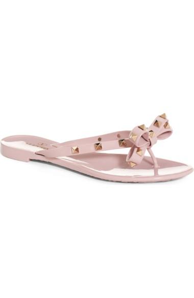 58945e9c2a54b Valentino 'Rockstud' Flip Flop In Water Rose Pink | ModeSens