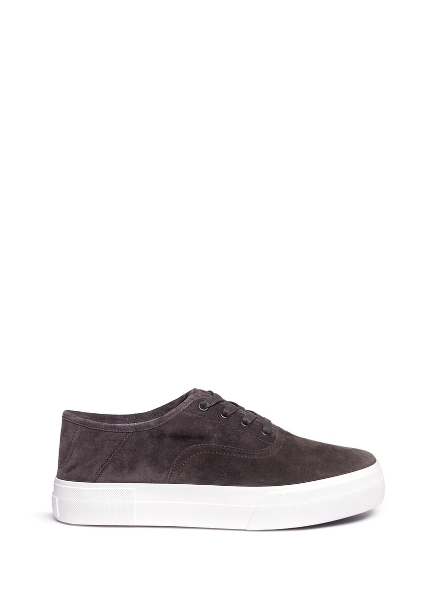 04431f83213b Vince Copley Suede Platform Low-Top Sneaker In Graphite