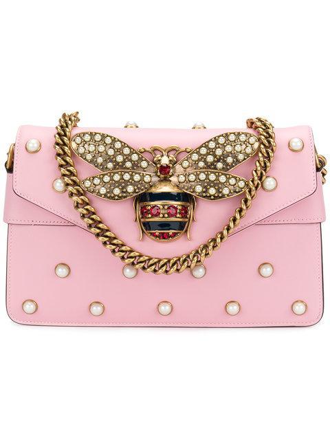 Gucci Mini Broadway Leather Shoulder Bag - Pink  0ea1c7f65856b