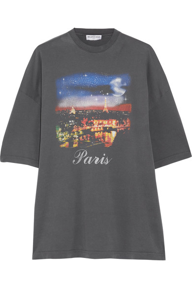 318ff67c Balenciaga Oversized Printed Cotton-Jersey T-Shirt In Grey | ModeSens