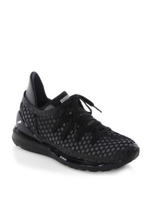f884b221284e Puma Ignite Limitless Netfit Running Shoe In Black  Silver