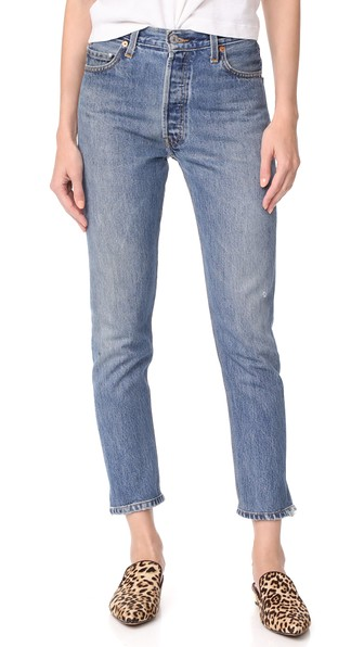 cf08c26e193f7 Re Done X Levi S High Rise Ankle Crop Jeans In Indigo