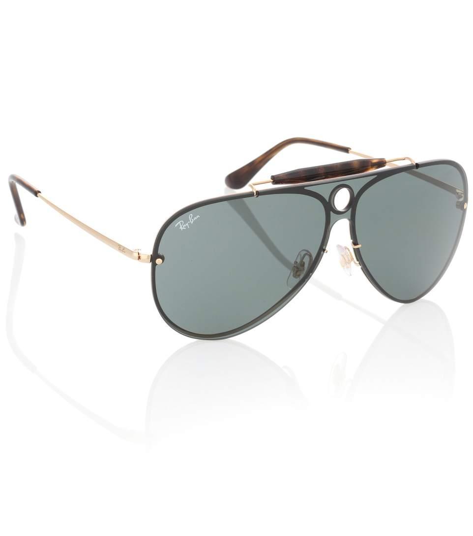 636ca4e4105ff Ray Ban Blaze Runner Aviator Sunglasses In Black