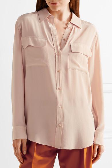 bf59abf1c2d8db Equipment Slim Signature Washed-Silk Shirt In Blush