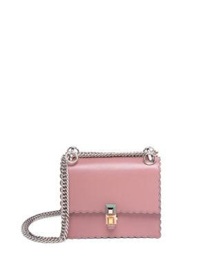 cda8b021bfd3 Fendi Small Kan I Scallop Leather Shoulder Bag - Pink In Light Pink ...