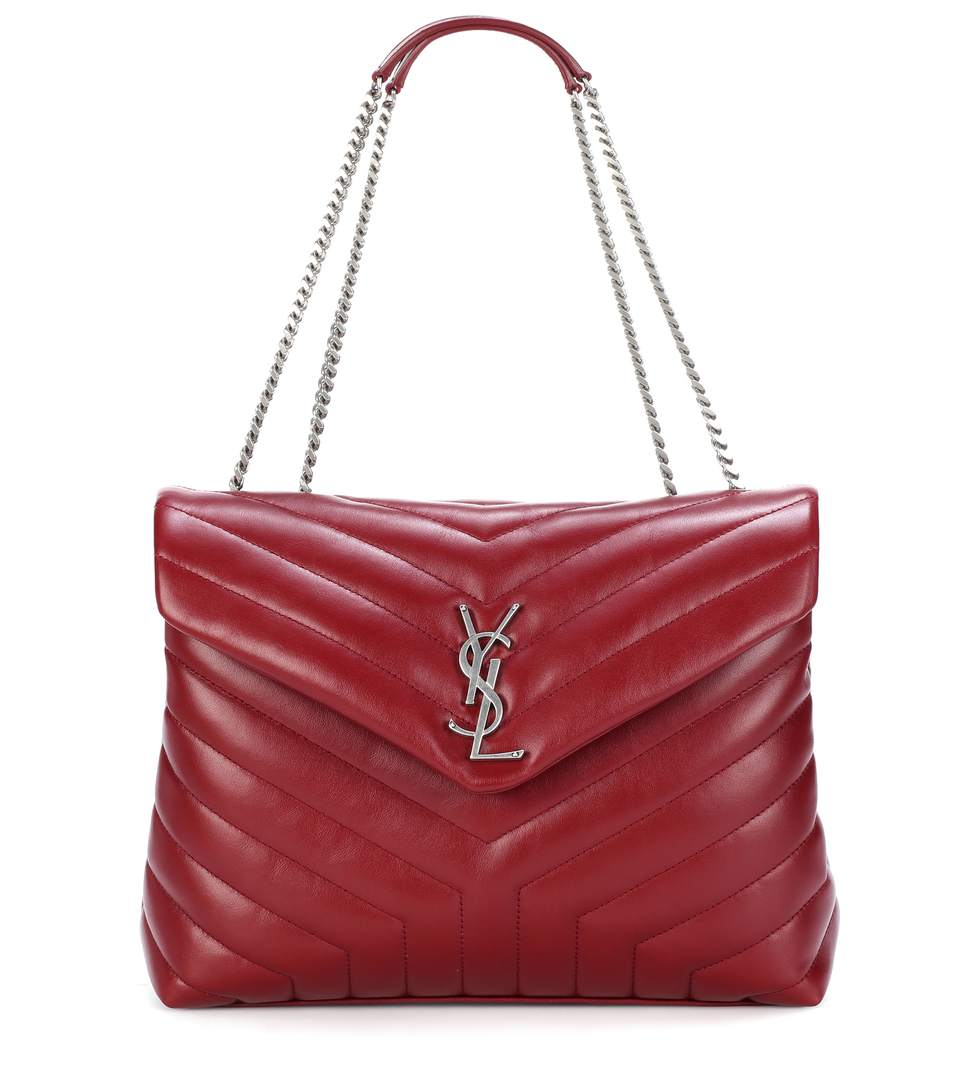 7277c5325e0 Saint Laurent Medium Loulou Calfskin Leather Shoulder Bag - Burgundy In  Palissaedre