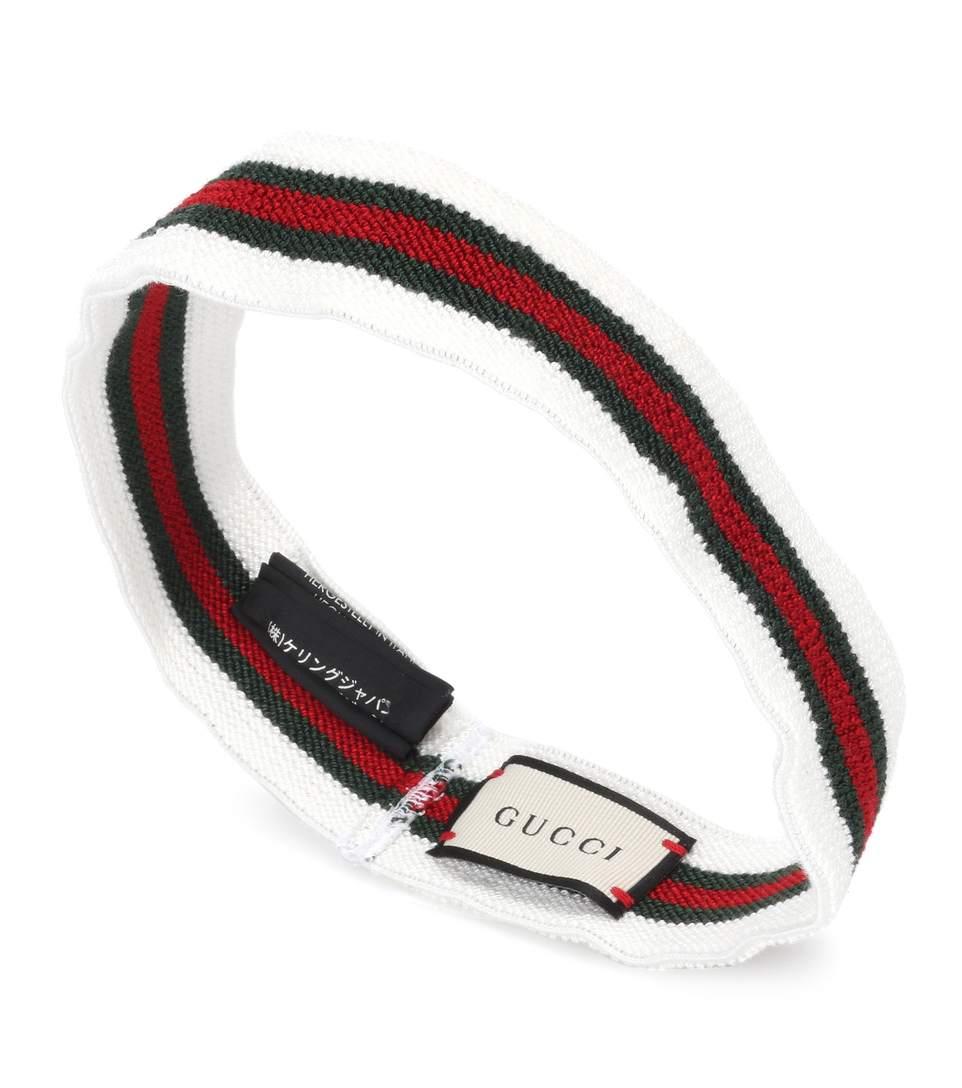 27dd442b7 Gucci Elastic Web Headband White | ModeSens