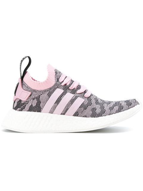half off 49b86 11a19 Women's Originals Nmd R2 Primeknit Casual Shoes, Pink - Size 10.0