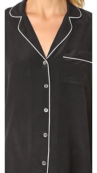 Equipment Lillian Silk Pajama Set In True Black  fe75745d5