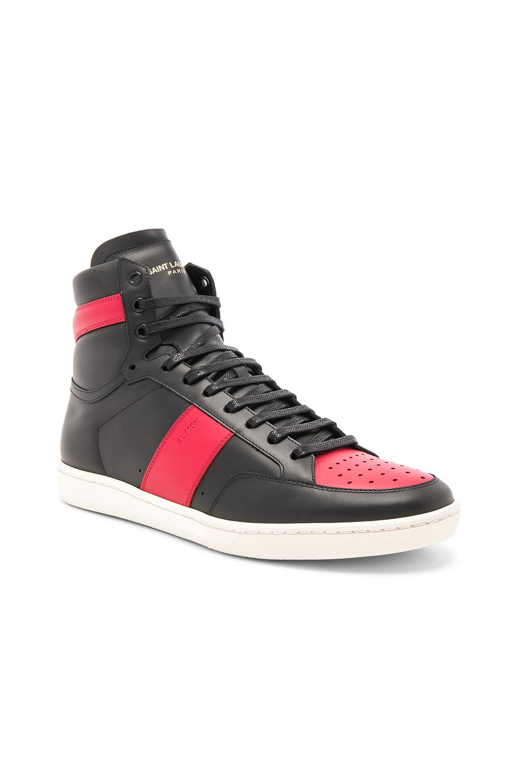 1d1b82c50dc Saint Laurent Sl/10H Men's Signature Court Classic Leather High-Top Sneakers  In Black