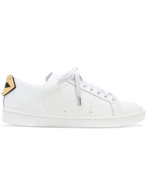 465f79c7525 Saint Laurent Signature Court Classic Sl/01 Lips Sneaker With Silver And  Gold Metallic Snakeskin
