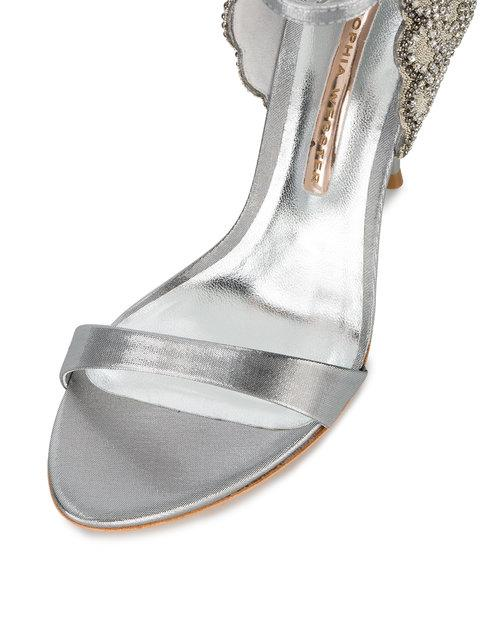 Sophia Webster Evangeline Crystal-Embellished LamÉ Sandals In Metallic