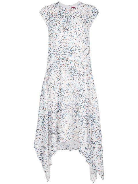 Kleid Weiß Marjan Sies Drapiertes Print In Mit White 34Rj5AL