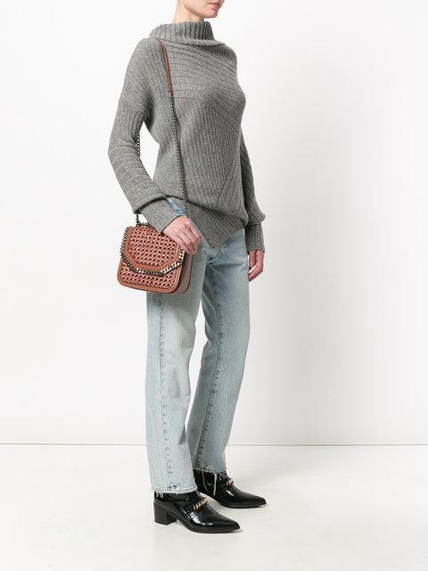 13f1f77dc5 Stella Mccartney Woven Falabella Box Shoulder Bag