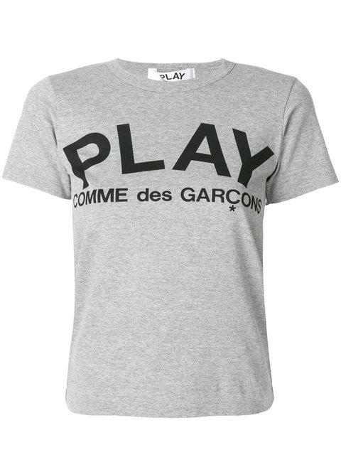 2a421d5f2000 Comme Des GarÇOns Play Logo Print T-Shirt - Grey