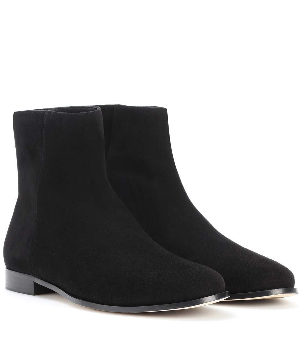 e1af5f301d9 Jimmy Choo Duke Flat Suede Ankle Boots In Black | ModeSens