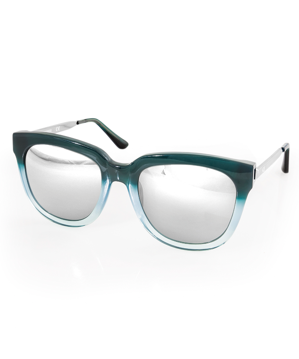 4335f51db7 Aqs Women S Piper Butterfly Sunglasses In Turquoise-Light Blue-Steel ...