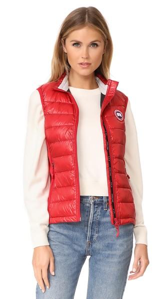 Canada Goose Hybridge Lite Vest In Red  e23ab0fece05