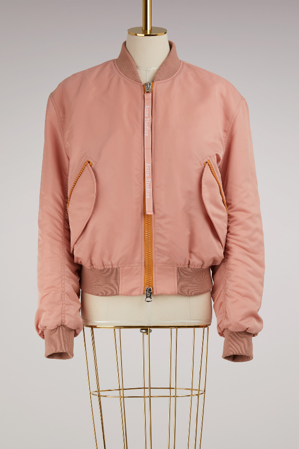 54030a940 Classic Bomber Jacket Pale Pink