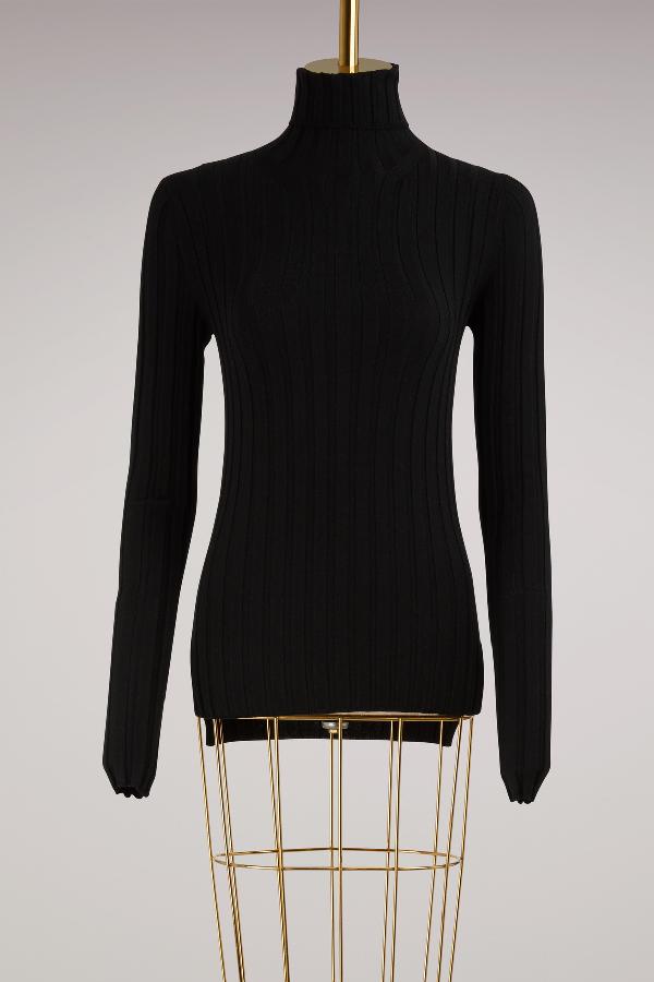 8944a1342c9 ACNE STUDIOS.  Corina  Merino Wool Blend Rib Knit Turtleneck Sweater in  Black