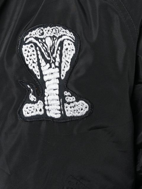 Ktz Embroidered Bomber Jacket - Black
