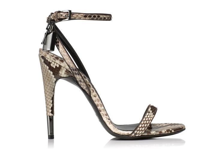 476a944136e Tom Ford Padlock Naked Strap Python Sandal In Ivory