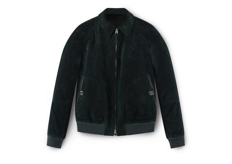 b522eeb12c8 Tom Ford Cashmere Suede Sartorial Jacket In Darkgreen