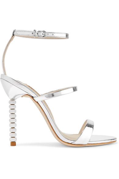 211623e82 Sophia Webster 'Rosalind' Crystal PavÉ Bead Heel Mirror Leather ...