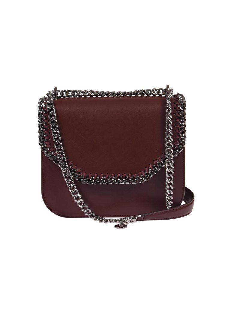 617f92fce2 Stella Mccartney Mini Burgundy Velvet Falabella Box Shoulder Bag In ...