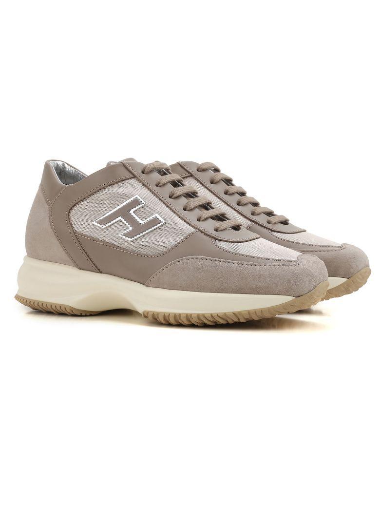 Hogan Interactive H Flock Sneakers In Beige   ModeSens