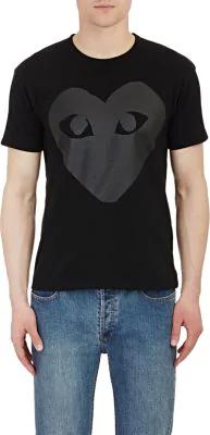 83864b14ad26 Comme Des GarÇOns Play Comme Des Garcons Play Black Upside Down Heart T- Shirt