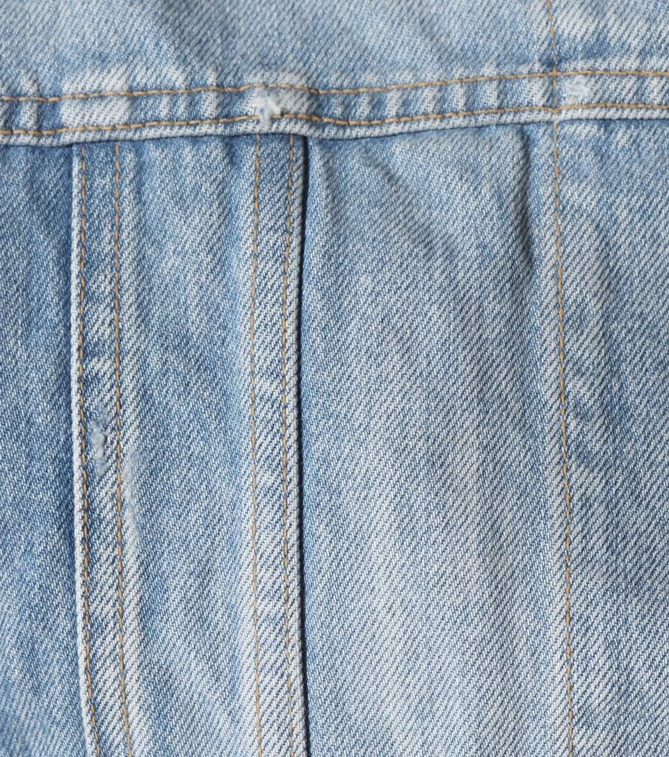 85ac7a41 Original Ysl Military Patch Jean Jacket In Washed Blue Shadow Denim