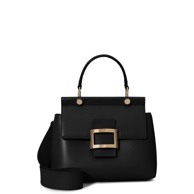 Roger Vivier Viv  Cabas Leather Mini Shoulder Bag In Black  d9177dfbe7ccf