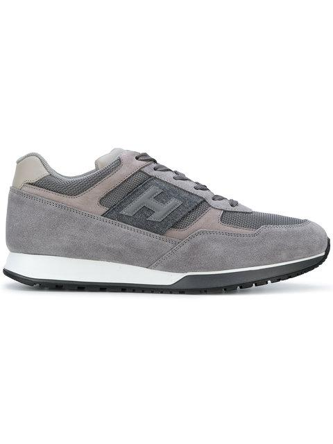 Men's Shoes Suede Trainers Sneakers H321 in Grey