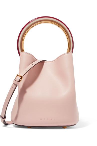 Marni Quartz + Cement Pannier Bag In Pink
