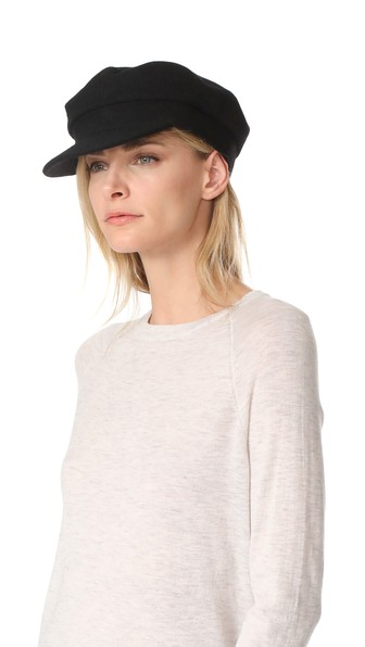 Janessa Leone Mattie Greek Fisherman Cap In Black  e1439f53e2ca