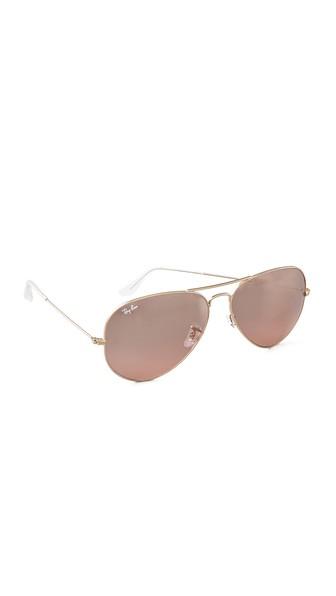 8c82dfc9cf0 Ray Ban Rb3025 Oversized Mirrored Original Aviator Sunglasses In Gold Smoke  Rose Mirror