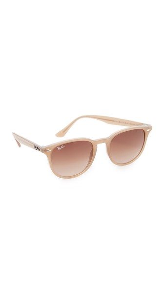 f18748fa6fb Ray Ban Rb4259 Highstreet Round Sunglasses In Shiny Opal Beige Brown ...
