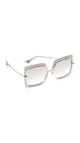 5d54443bfb3 Dita Narcissus Sunglasses In Satin Crystal Grey Milky Gold