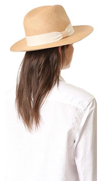 33f7f5e8b Panama Continental Hat in Pecan/Ivory