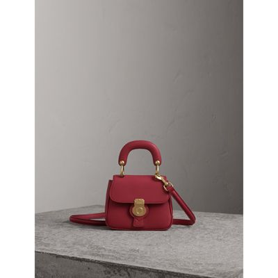 Burberry The Mini Dk88 Top Handle Bag In Antique Red  1b6c8c36fbe10