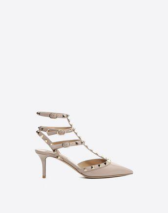 6ff73949eab Valentino Rockstud Patent Ankle Strap Pump In Nocolor