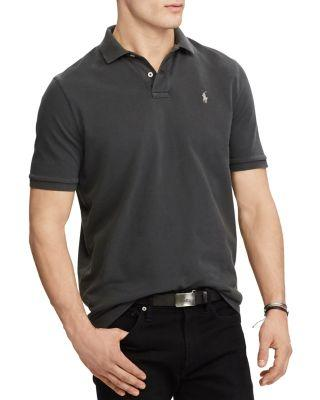 6320b449 Polo Ralph Lauren Weathered Mesh Classic Fit Polo Shirt In Dark Carbon Gray