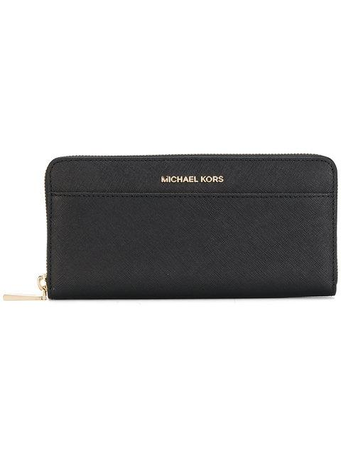 d865eb9b38dd3c Michael Kors Michael Jet Set Travel Wallet - Black | ModeSens
