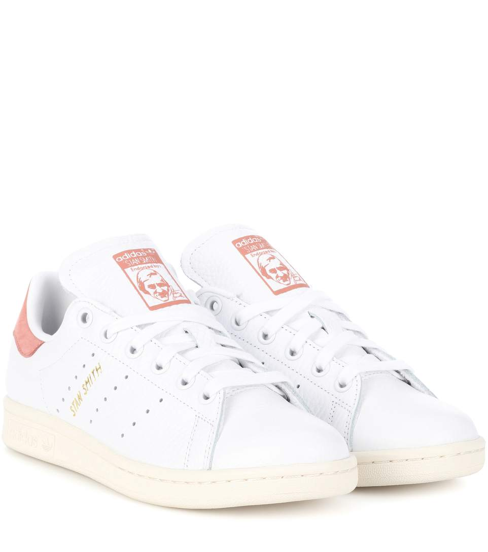 new styles b26dc c328f Adidas Originals Stan Smith Leather Sneakers In Ftwwht