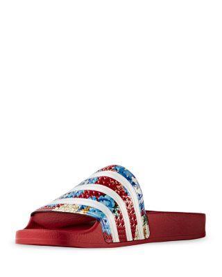 209ab67203d4d Shop Adidas Originals Women S Adilette Embossed Pool Slide Sandals ...