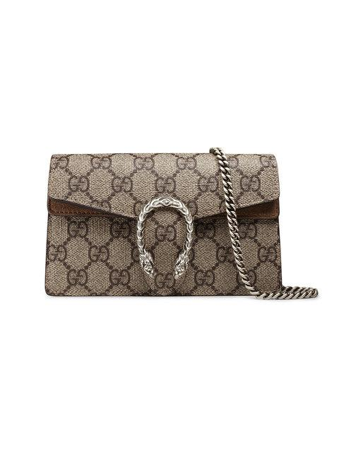 f685e77fe1a Gucci Super Mini Dionysus Gg Supreme Canvas   Suede Shoulder Bag In 8642  B.Ebony. Farfetch