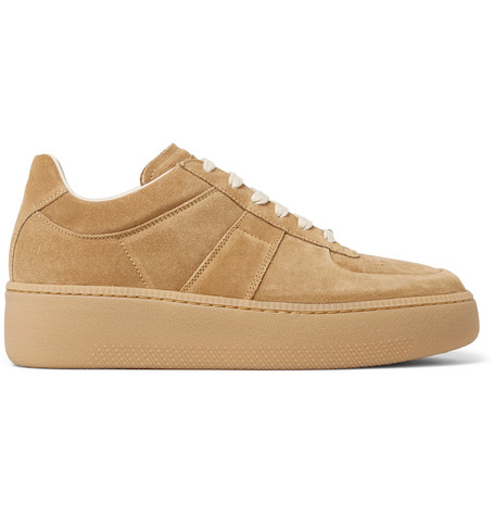 Maison Margiela Exaggerated-sole Suede Sneakers In Amber